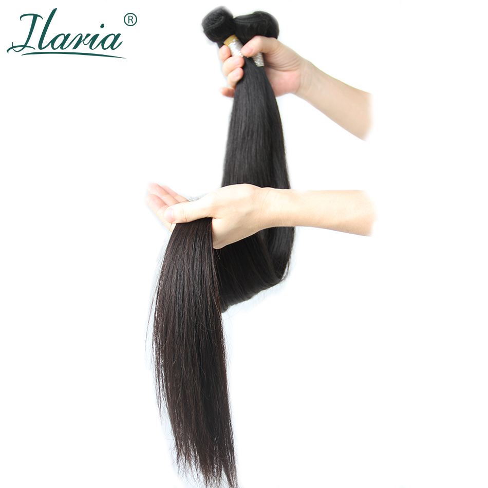 Ilaria 30 32 34 36 38 Inch 40 Inch Bundles 100% Human Brazilian Hair Weave Bundles Long Virgin Hair Weft 1/3/4 PCS Natural Color