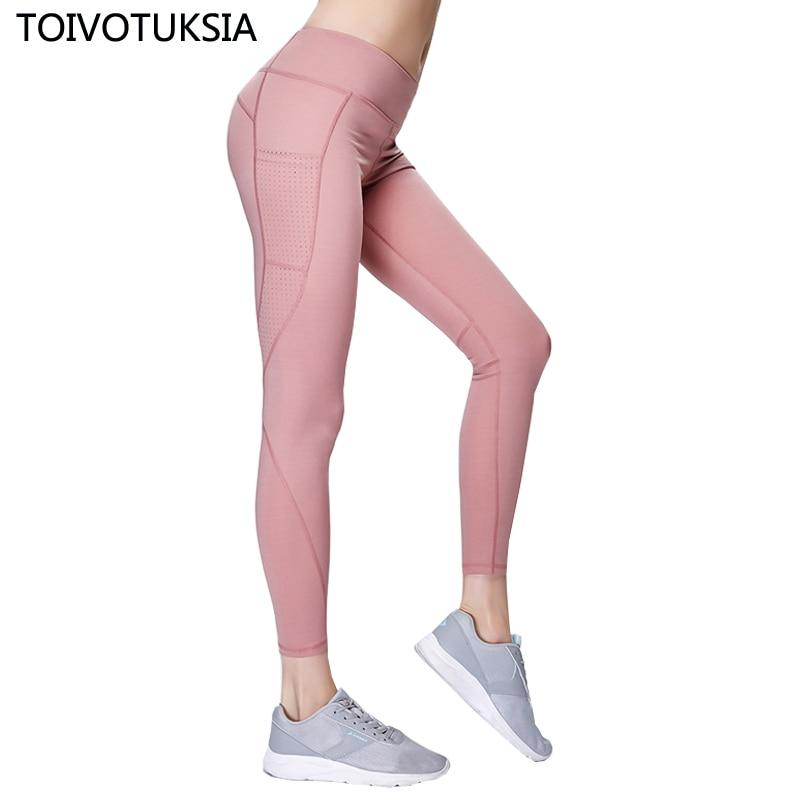 TOIVOTUKSIA Pants Women Pocket Active Custom Gym   Legging