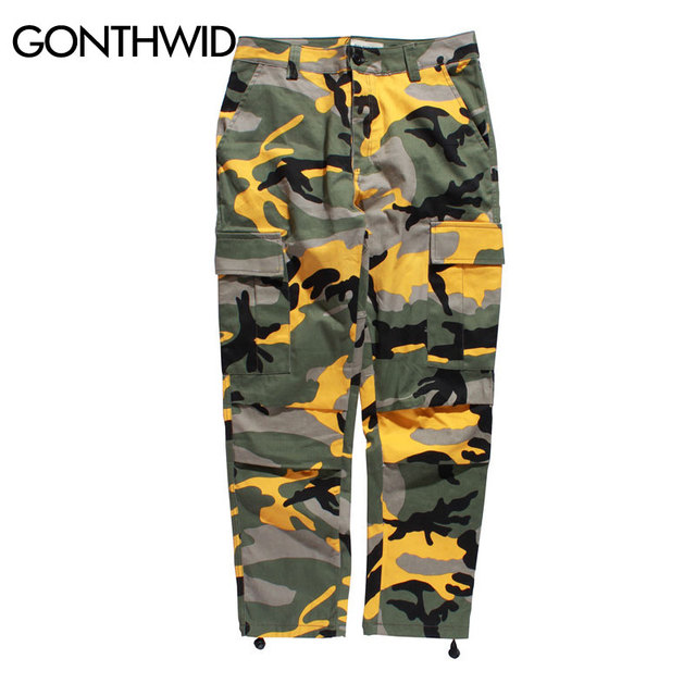 Camo Cargo Pants Mens Fashion Baggy 4