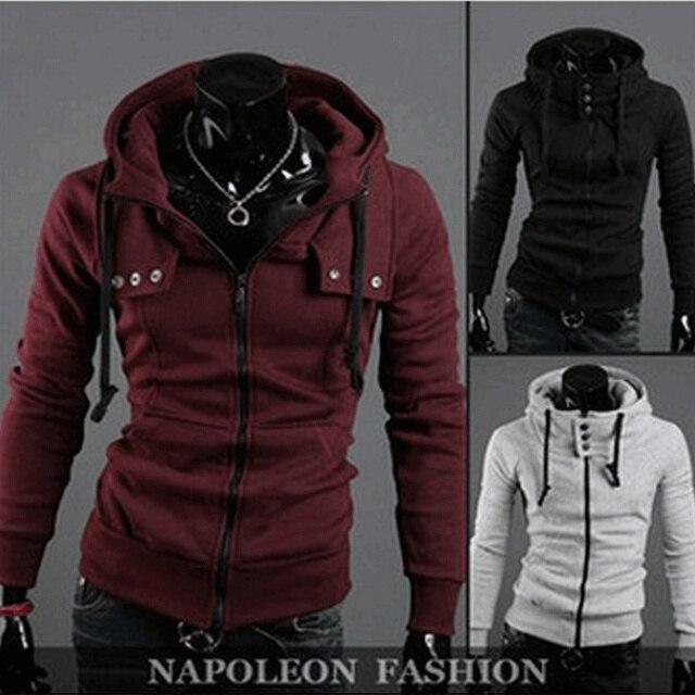 2017 Fashion Men's Fleece Hoodies Men Jacket Tracksuits Pullover Suit Mens Hoodies And Sweatshirts Assassins Creed,1303-3