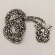 Celtics Fox knot Pendant Necklace Men Women Pagan Norse Jewelry Viking Drop Shipping(China)