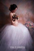 L XL XXL XXXL Maternity Tutu Skirt Photography Props Pregnant Women TUTU ball skirt Photo Shooting Fancy Maternity Lace Skirt