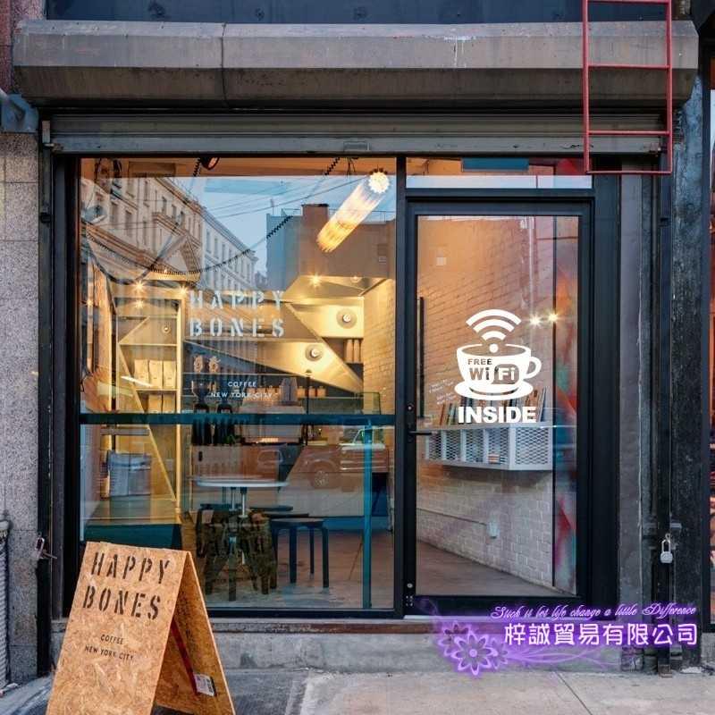 مقهى واي فاي كأس ملصق مائي مقهى ملصق الفينيل الفن صور مطبوعة للحوائط Pegatina ديكور جدارية القهوة ملصق