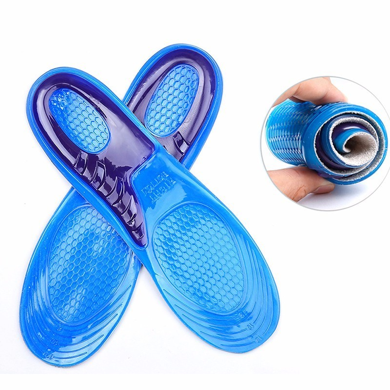 1 Pair Large Size Orthotic Arch Support Massaging Silicone Anti-Slip Gel Soft Sport Shoe ...