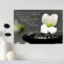 Custom cartel de la lona impresión Zen Stone SQ0511-Z6 cartel cartel de la pared de Tela de Seda de impresión de tela de tela de Impresión