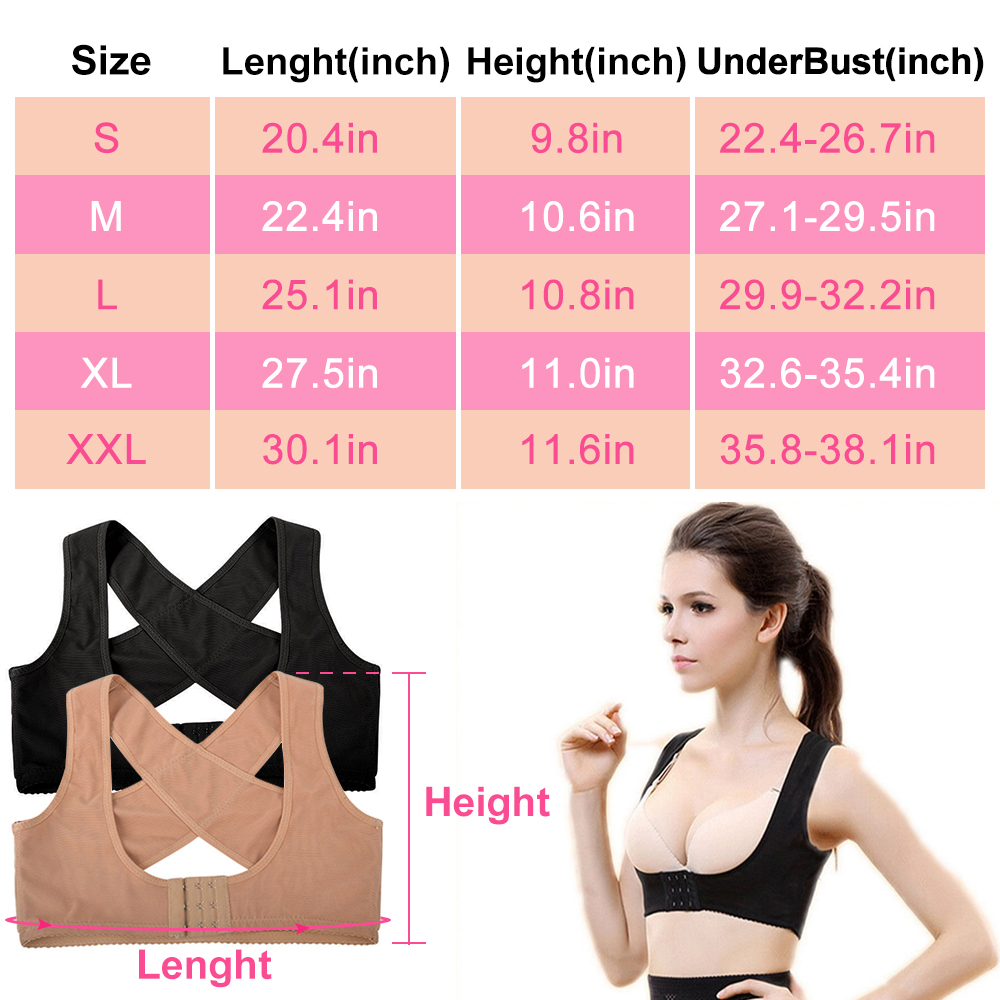 US Warehouse Drop Shipping Lady Chest Posture Corrector Support Belt Body Shaper Corset Shoulder Brace for Health Care 5 Size 5