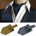 SHENNAIWEI estilo Britânico gravata ascot lenço dos homens de alta qualidade Retro camisa padrão Lenço Paisley Floral Gravata Jacquard Cachecóis