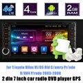 Carro DVD Player GPS Rádio FM rádio para T/oyota Hilux VI/OS Velhos C/amry Pr/ado R/AV4 P/rado 2003-2008 câmera de suporte traseiro