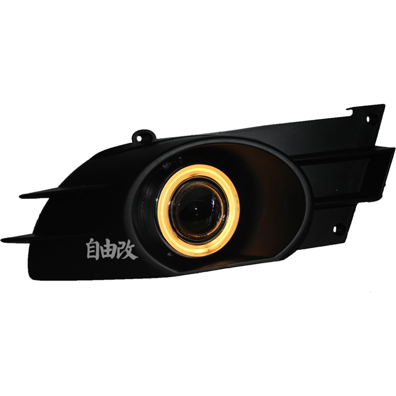 eOsuns COB angel eye led daytime running light DRL + halogen Fog Light + Projector Lens for suzuki sx4 sedan