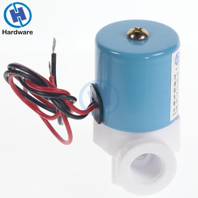 """Практичный G1/4 """"HQV1 электромагнитный клапан Пластик нормально замкнутый 2 Way 12 В постоянного тока 0-120PSI 0-0.8MPa Миниатюрный Клапаны Mayitr 40*30*60 мм"""