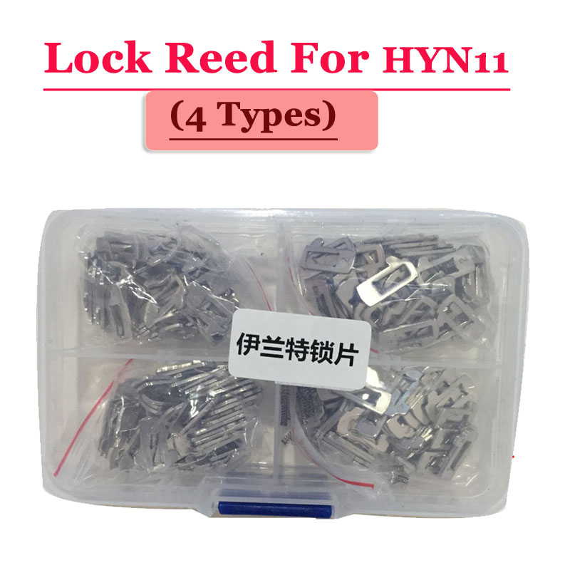 цены Free shipping (100pcs/box )HYN11 car lock reed locking plate for Hyundai ELANTRA lock (each type 25pcs) Repair Kits