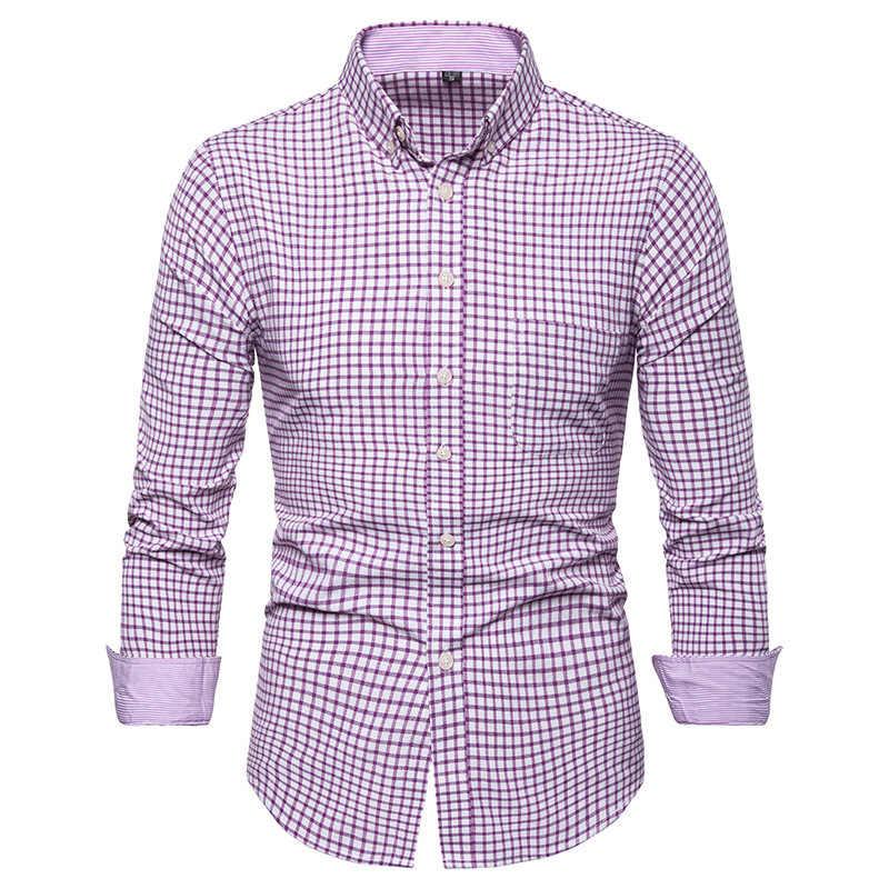 Mannen Toevallige Lange Mouwen Effen shirt Slim Fit Mannelijke Social Business Dress Shirt Merk Mannen Kleding Zachte Comfortabele plus size 5XL