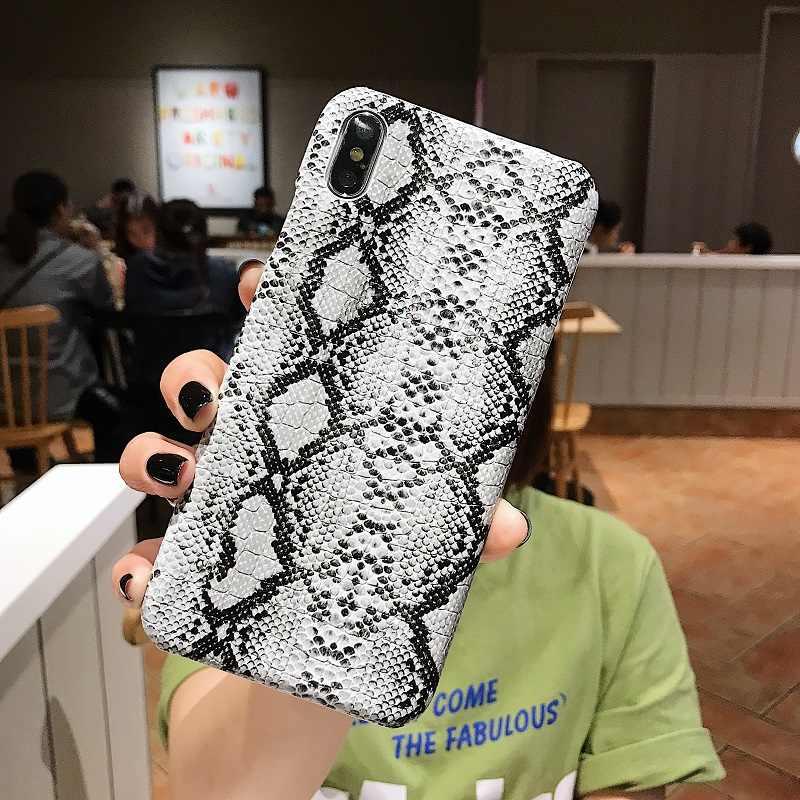 حقيبة هاتف من الجلد المصقول ل iPhone11 11pro max 7 8 Plus X XS Max XR gg حافظة جلد الثعبان خزائن هاتف آيفون 6 6S 7 8 Plus