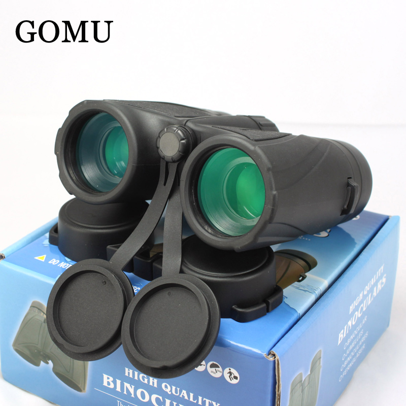 GOMU 5X25 HD Wide Angle BAK4 Prism binoculars telescope fogproof with green film for Hunting Tourism Telescope Free shipping new outdoor binoculars 7x40 military grade waterproof telescope hd green film bak4 prism wide angle with range reticle