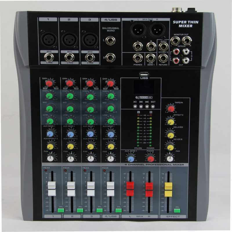 cheap CT-40-usb 4 channel audio mixer DJ MIXER sound mixer mixing console mp3 ct 80s usb di mixer professional amplifier mixer 8 channel stage audio mixer karaoke mixer mixing console mesa dj preamplifier