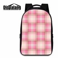 Dispalang Hot 17 Inch Lattice Laptop Backpack For Teens Girls Leisure Tourism Double Shoulder Bag For