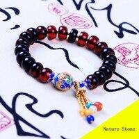 Fashion 10mm Red Blood Amber Enamel Bracelet Women Gift Jewelry Single String Bracelet MYG010