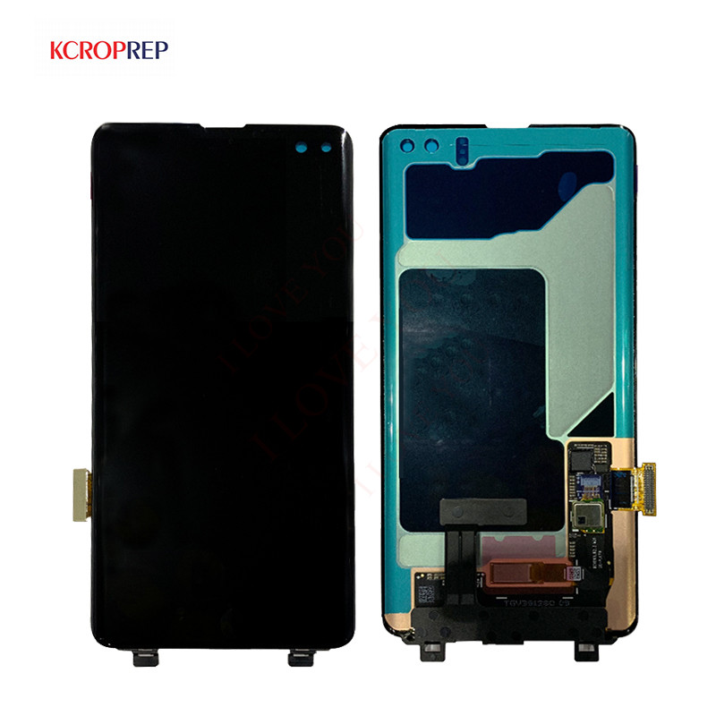 For <font><b>Samsung</b></font> Galaxy <font><b>S10</b></font> Plus SM-G9750 G975F G975U G975N <font><b>LCD</b></font> Display Touch <font><b>Screen</b></font> Digitizer Assembly For <font><b>SAMSUNG</b></font> <font><b>S10</b></font>+ Plus <font><b>LCD</b></font> image