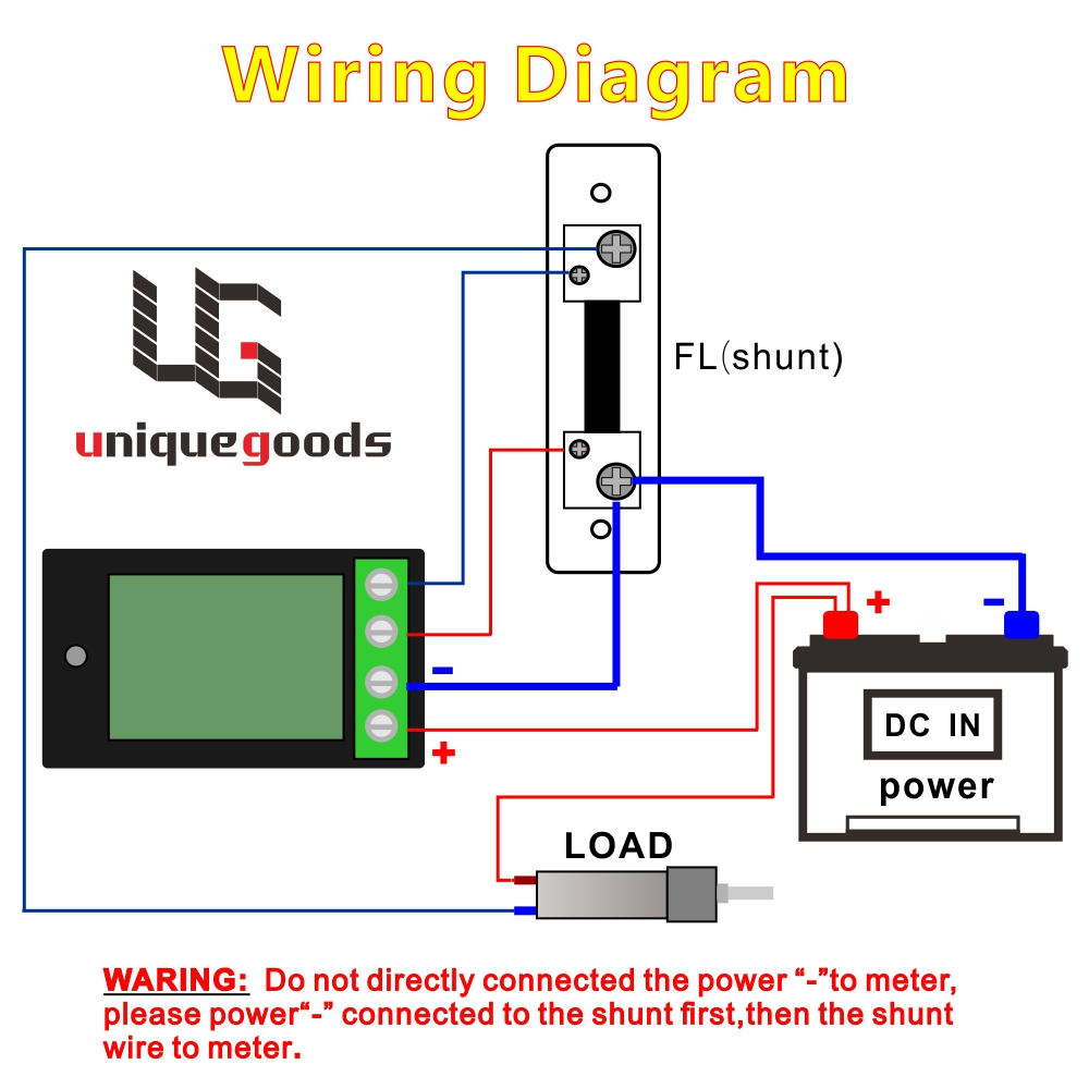 Buy Dc 65 100v 0 50a Lcd Display Digital Current Shunt Motor Wiring Diagram Also Besides Voltage Power Energy Meter Multimeter Ammeter Voltmeter With From
