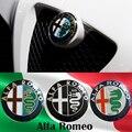 2 pcs Frete grátis Promoções venda Preto branco Cor 74mm 7.4 cm ALFA ROMEO Logotipo Do Carro emblema emblema autocolante para Mito 147 156 159 166