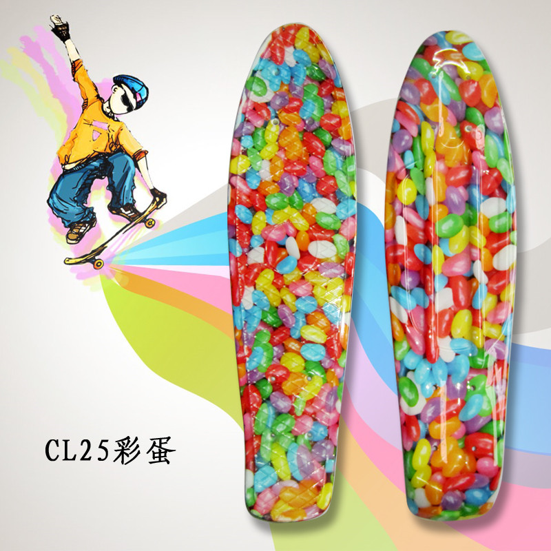 """Image 5 - Complete Peny Board 22"""" Colorful Plastic Skateboard Boy Girl Mini Long Board Skate 6Types Available-in Skate Board from Sports & Entertainment"""