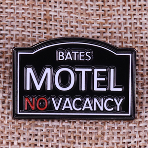 Image 1 - Bates Motel horror Movie Prop Pin Badge Alfred Hitchcock fan gift film lover Brooch