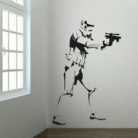 XTRA LARGE STORM TROOPER STAR WARS POSTER VINYL WALL STICKER LIFE SIZE WALL ART BIG MURAL