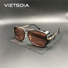 Новинка, стильные мужские солнцезащитные очки в стиле «Железный человек 3» в стиле стимпанк, мужские солнцезащитные очки Tony Stark, Ретро стиль, Ретро стиль, солнцезащитные очки в стиле стимпанк, UV400