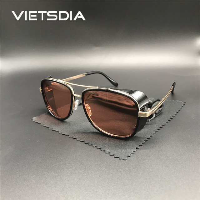 2018 Hot Iron Man 3 Male Steampunk Sunglasses For Man Tony Stark Sun  glasses Retro Vintage 248c1c8776