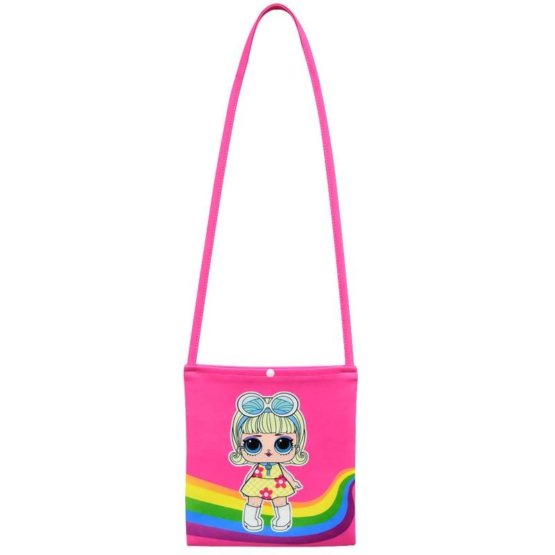 Комплекты одежды для маленьких девочек коллекция 2019 года, летний топ с короткими рукавами и принтом «Lol doll» + юбка с бантом + сумка, комплект детской одежды из 3 предметов