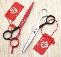 Professional 5.5 titanium Hairdressing Scissors Cutting Hair Straight