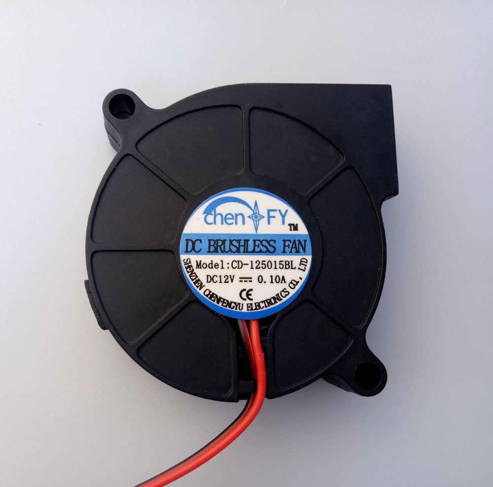 DC 12V 5015 Turbine Blower Cooling Fan 2Pin 50x15mm For 3D Printer Extruder gdstime 10 pcs dc 12v 14025 pc case cooling fan 140mm x 25mm 14cm 2 wire 2pin connector computer 140x140x25mm