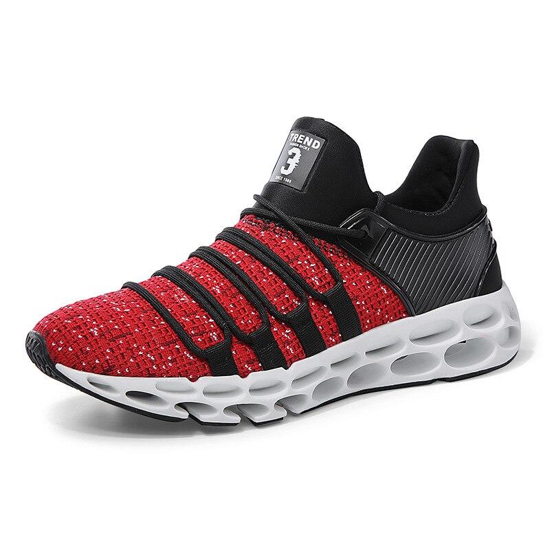De Leve Confortável Moda Masculina Sneakers Caminhada Dos Sexemara Respirável Malha Preto Novas cinza E Homens Sapatos sn187 Xw vermelho Casuais qARxIFw