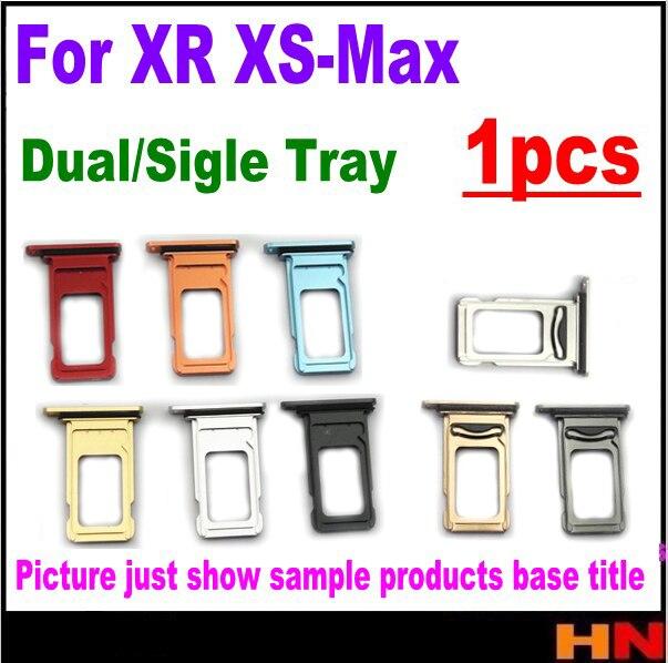 1 ピースデュアル SIM カードリーダーコネクタソケットトレイホルダースロットモジュール XS 最大 XR シングル sim トレイフレーム交換部品