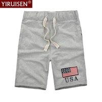 YiRuiSen Brand TOP Quality Men S Fitness Shorts 3XL 100 Cotton Casual Shorts Men 2017 Summer