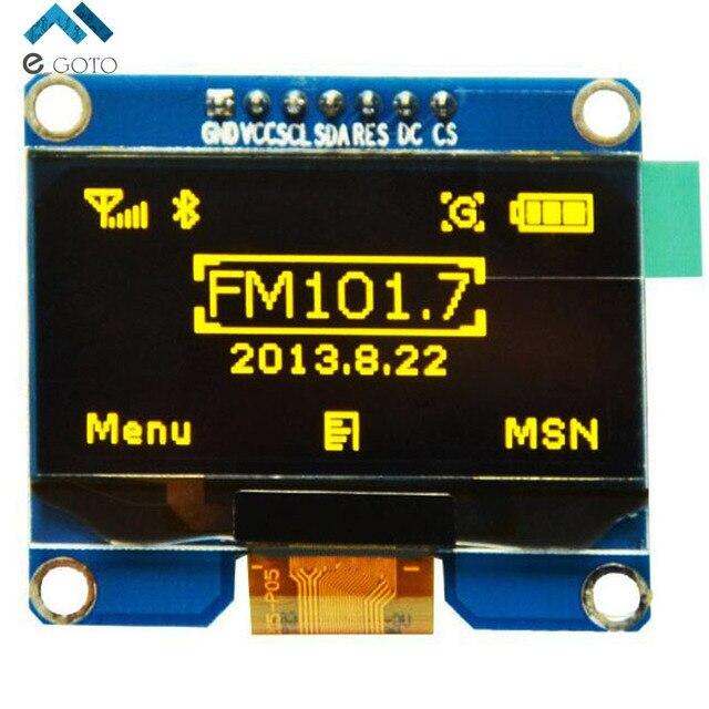"1.54 ""1.54 дюймов Желтый OLED Дисплей Модуль 128x64 SPI IIC I2C Интерфейс OLED Экран, Доска 3.3-5 В"