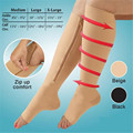 Ompression socks zip sox pressure hose thin leg socks zipper socks fat burn socks