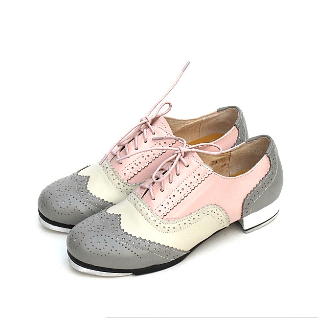 Genuine Leather Tap Shoes Woman Dance Shoes High Impact Aluminum Plate Tap Dance Shoes For Women Girl Sports Mosaic Shoes