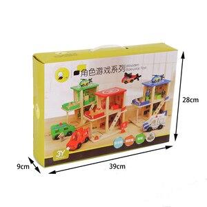 Image 5 - חשמלי רכבת מסלול סט מגנטי חינוכיים חריץ חיוניות רכבת עץ רכבת מסלול תחנת צעצוע מתנות לילדים