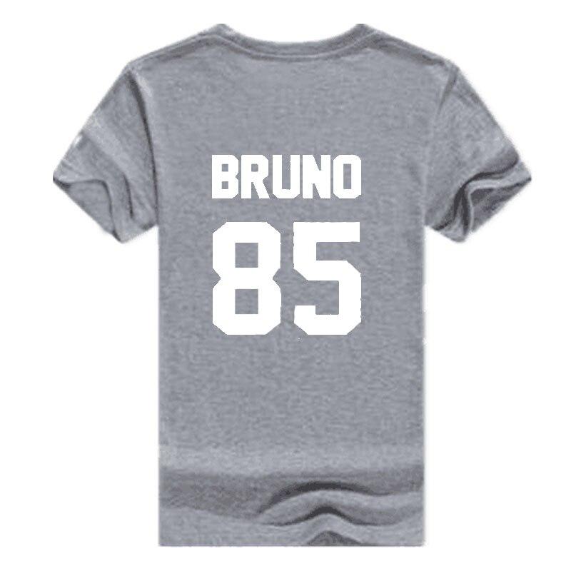 Vsenfo Summer T-Shirt Women Bruno Mars T Shirt Hipster BRUNO 85 Printed Tee Shirt Femme Casual Summer Short Sleeve Tops Tee