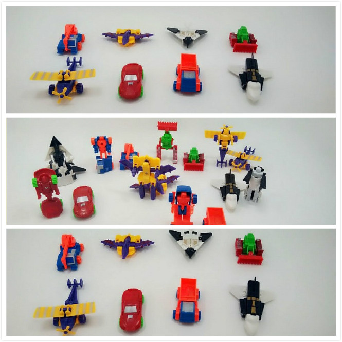 Miniature Toys For Boys : Cheap pcs lot mini deformation cars plane robot plastic