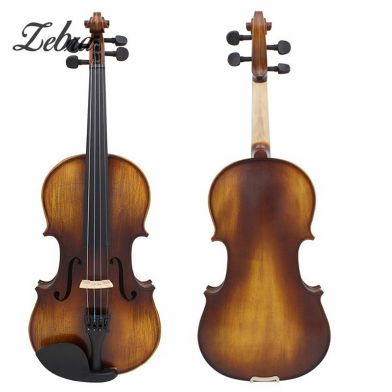 Full Size 4/4 Acoustic Violin Stringed Instruments Fiddle with Violin Case Bow  Accessories Set Kit For Musical Lover