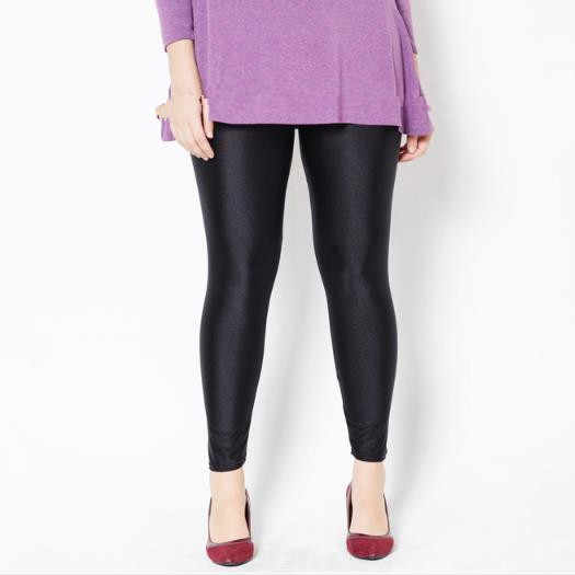 Mulheres Capri Calças 2019 Mulheres Sexy Black Shine Calças Elegantes Calças Lápis Outono Elásticas calças de Cintura Alta Skinny Slim Leggings M835