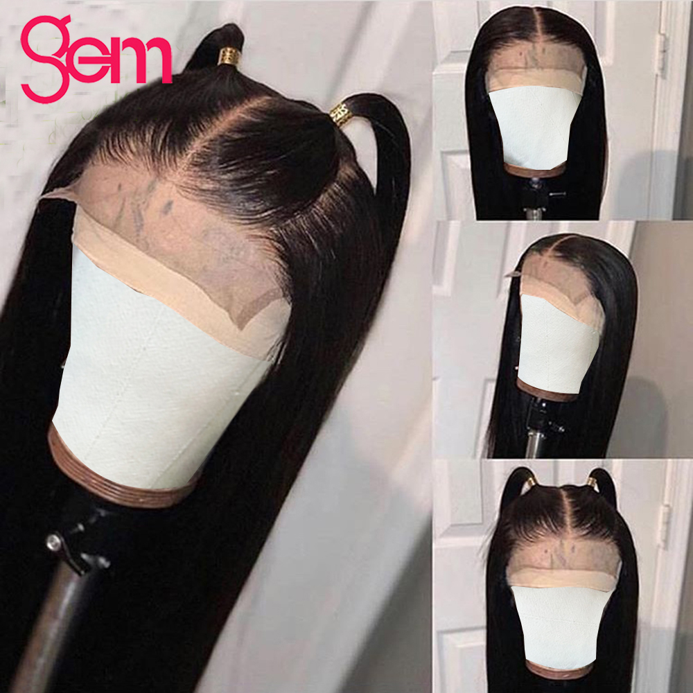 4x4 Closure Wig Straight Lace Front Wig Human Hair Lace Front Peruvian Remy Hair Natural Lace