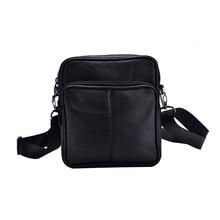 hot deal buy genuine leather black mini crossbody bags for men portable men's business single shoulder bag european style crossbody bags