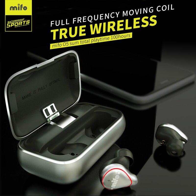 Mifo O5 Bluetooth 5.0 Earbuds Wireless headset IPX7 Waterproof earplug Built in Microphone Stereo Sound Bluetooth Earbuds