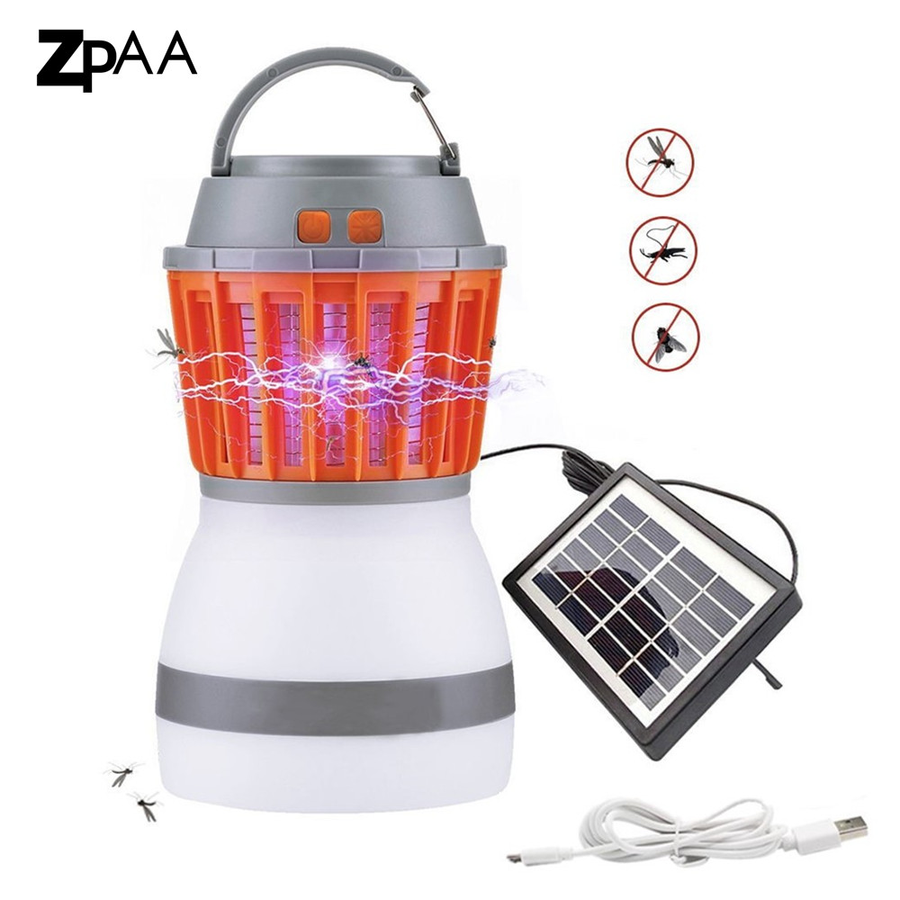 LED Waterproof Mosquito Killer Camping Lamp USB Rechargeable&Solar Pest Repeller Tent Light for Indoor Outdoor Home Travel LightLED Waterproof Mosquito Killer Camping Lamp USB Rechargeable&Solar Pest Repeller Tent Light for Indoor Outdoor Home Travel Light