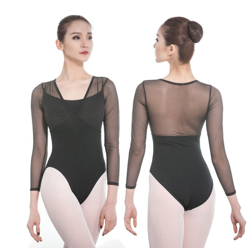 XL Bodysuit // Unitard Cotton Long Sleeve Adult Black New Sizes S M L