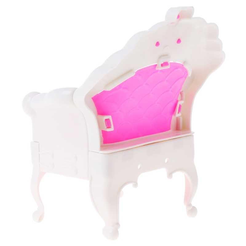 Bonecas Rosa Única Cadeira Poltrona Sofa Móveis casa de Bonecas Bonecas Acessórios