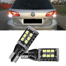 цена на 2x Canbus No Error Led Backup Reverse Light Lamp for FOR VW VOLKSWAGEN Passat B7 T15 W16W LED 2835 Chip 12V Car Styling